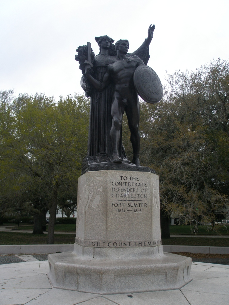 Statue in White Point Garden, where the Cooper & Ashley Rivers join.
