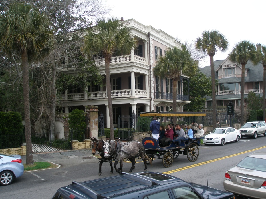 An ever-present Tour-Carriage, on the East Battery, outside the Edmondston-Allston House.