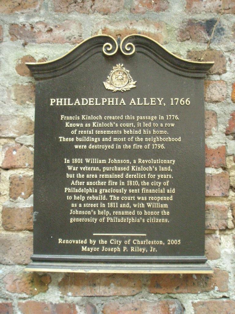 Philadelphia Alley plaque
