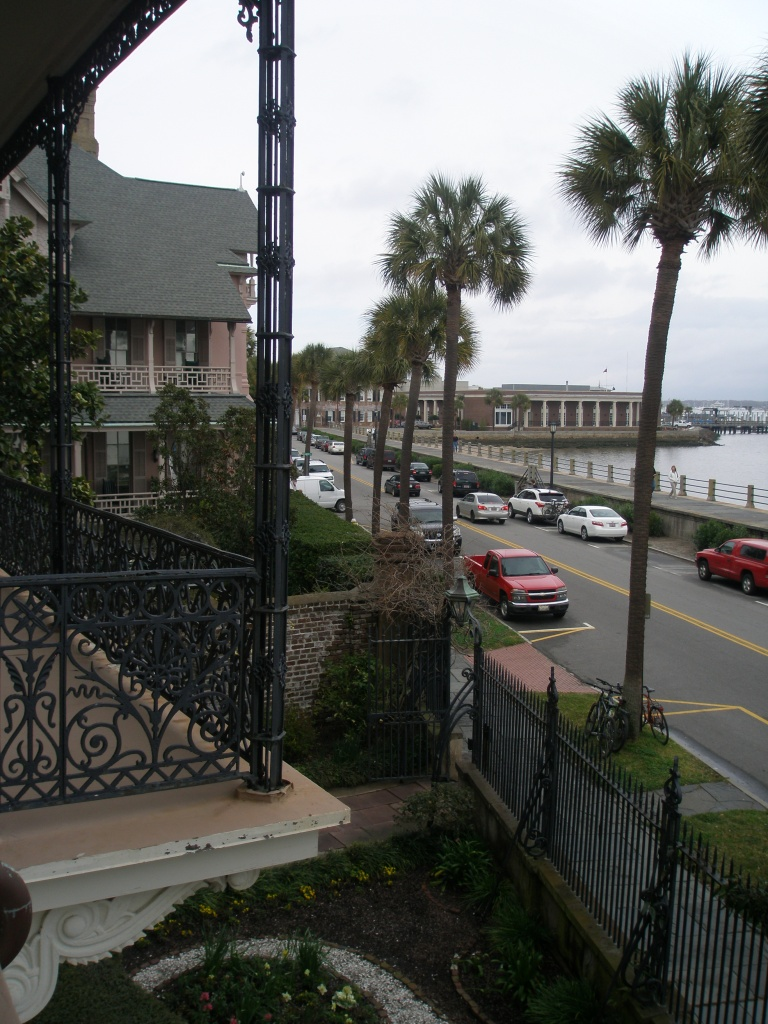 View from 2nd floor loggia across East Battery, toward the Harbor