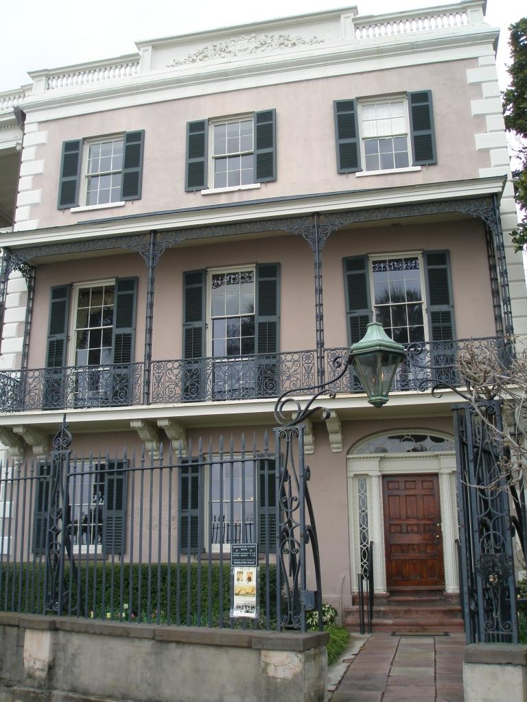 East Battery Street entry to the Edmondston-Allston House.