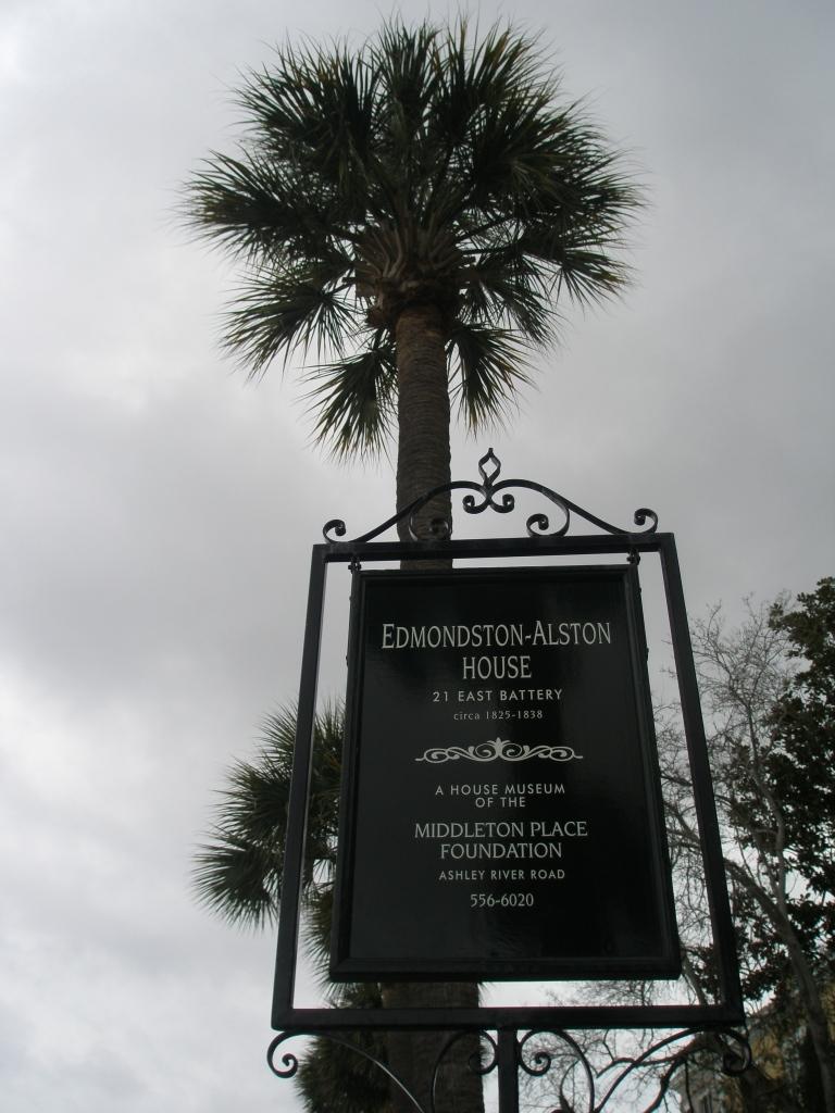 At the Edmondston-Allston House, on a rainy Tuesday