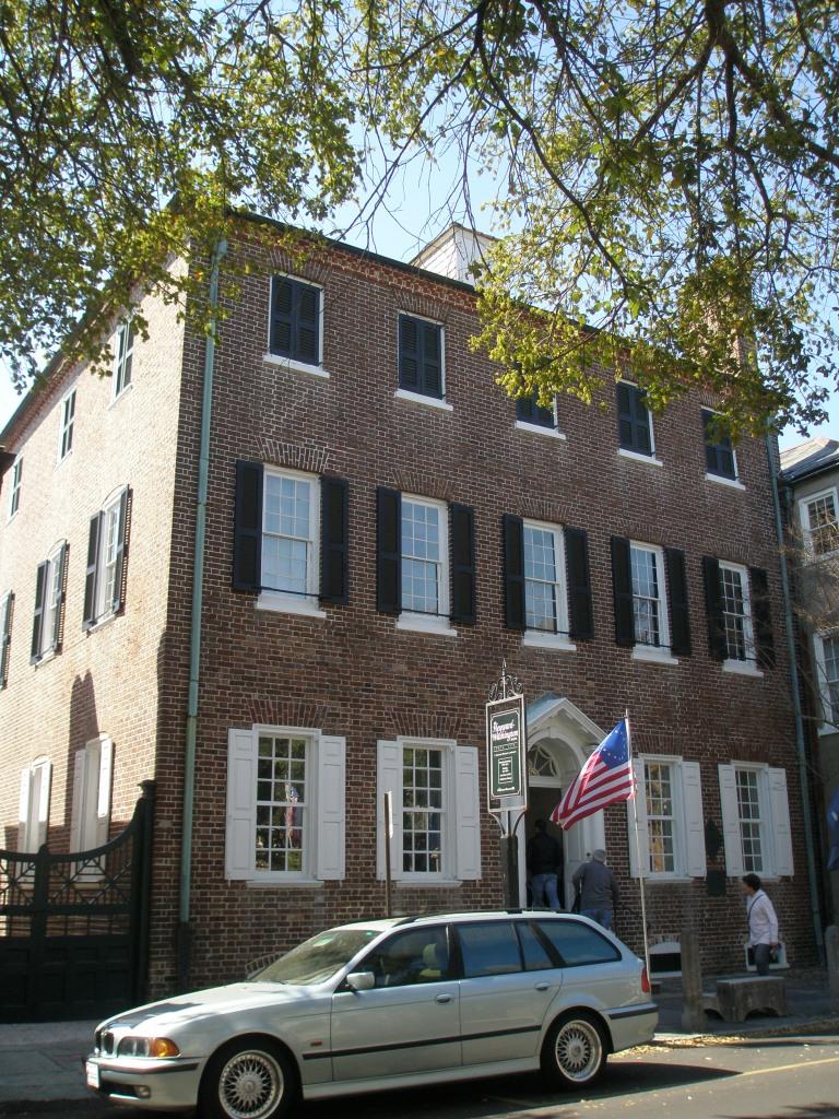Heyward-Washington House. Front Elevation.