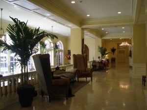 Upper Lobby at the Mills House Hotel.