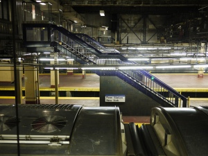 Trust me: the platforms at Penn Station, and then the endless, upstairs corridors, look much grimier than they do in this photo.