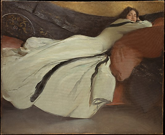 REPOSE. By John White Alexander. 1895. Photo, courtesy of the MET.