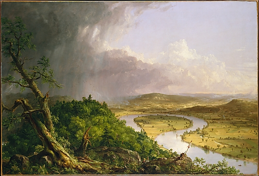 THE OXBOW. By Thomas Cole. 1836. Photo, courtesy of the MET.