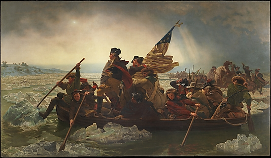 WASHINGTON CROSSING THE DELAWARE. By Emanuel Leutze. 1851. Photo, courtesy of the MET.