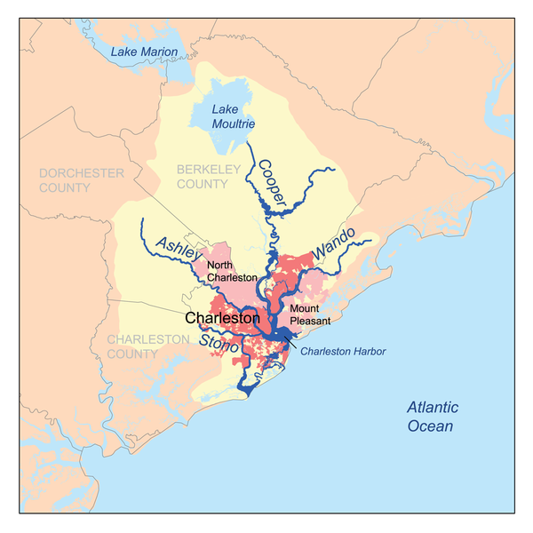 All of the Low Country plantations were built on the banks of the rivers which feed into Charleston Harbor. These rivers were the highways of yesteryear.
