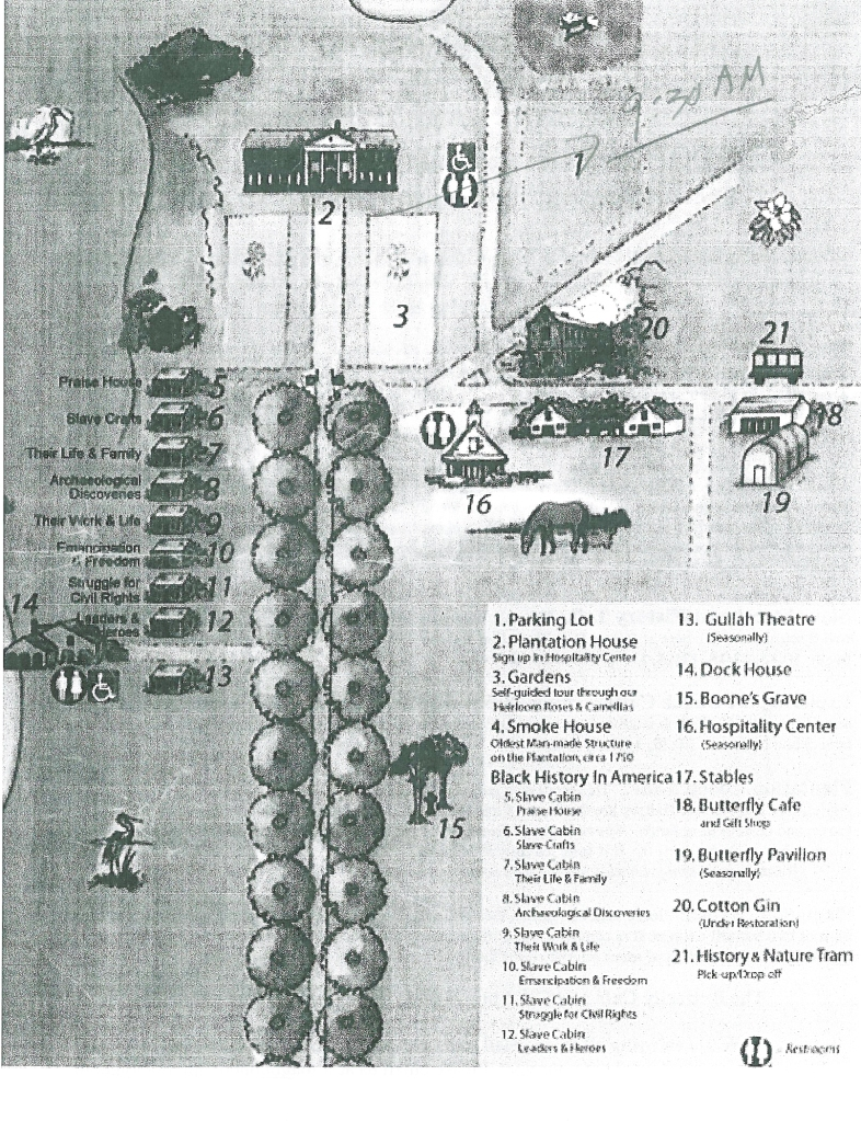 Map of Boone Hall Plantation