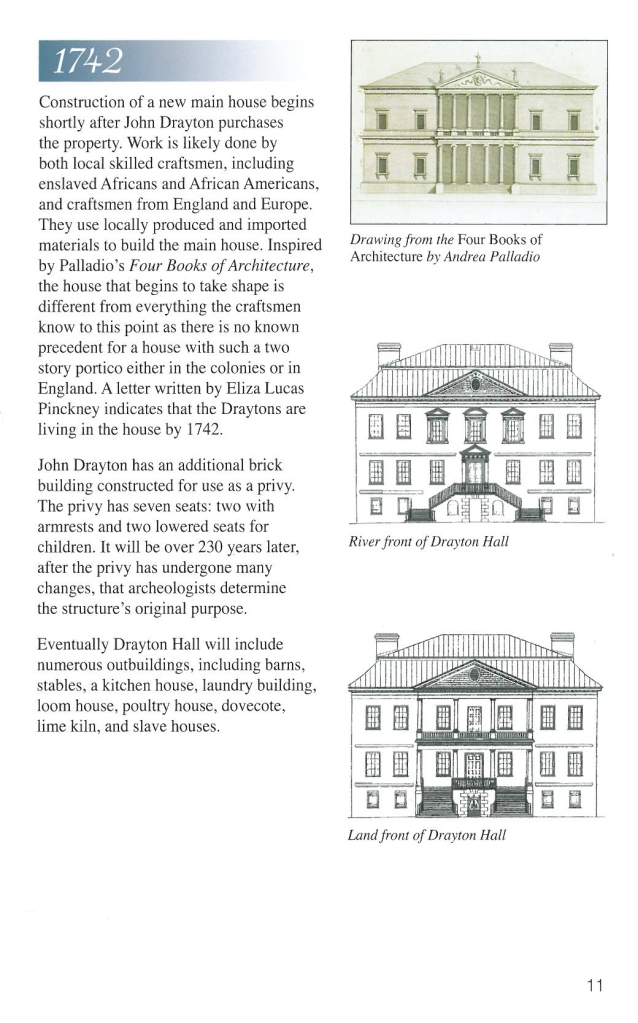 Palladian Inspiration. Image courtesy of Drayton Hall & The National Trust for Historic Preservation.