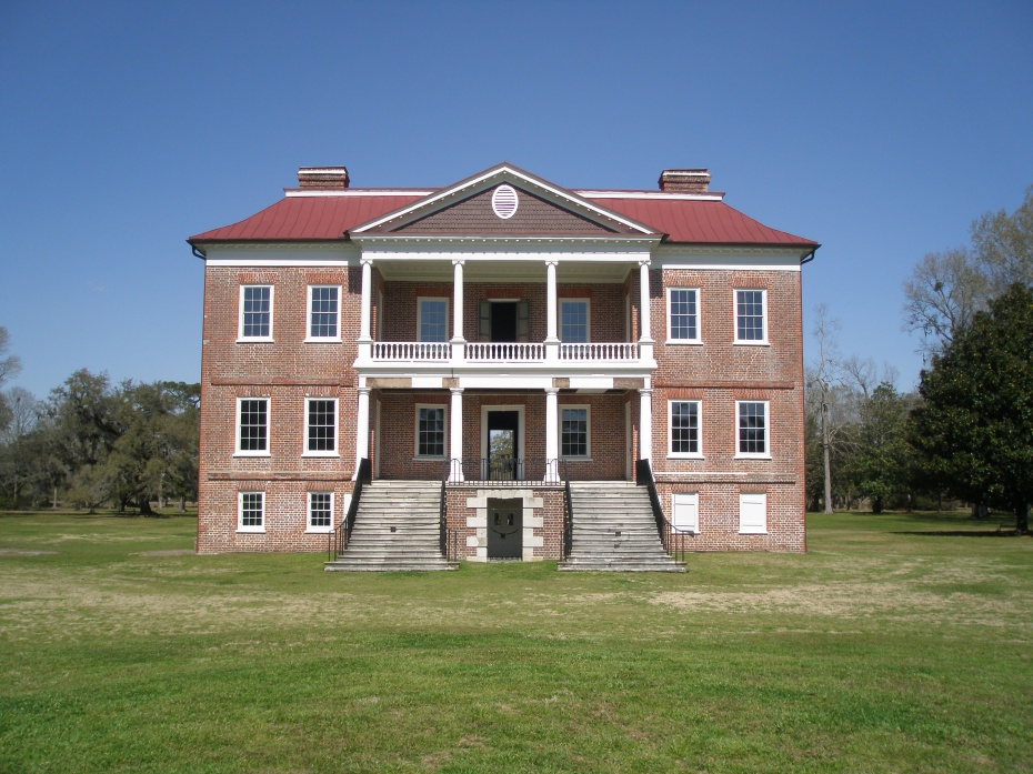 The grand Front Elevation of Drayton Hall