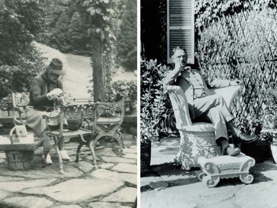 Mabel Choate and Fletcher Steele, both in the Afternoon Garden