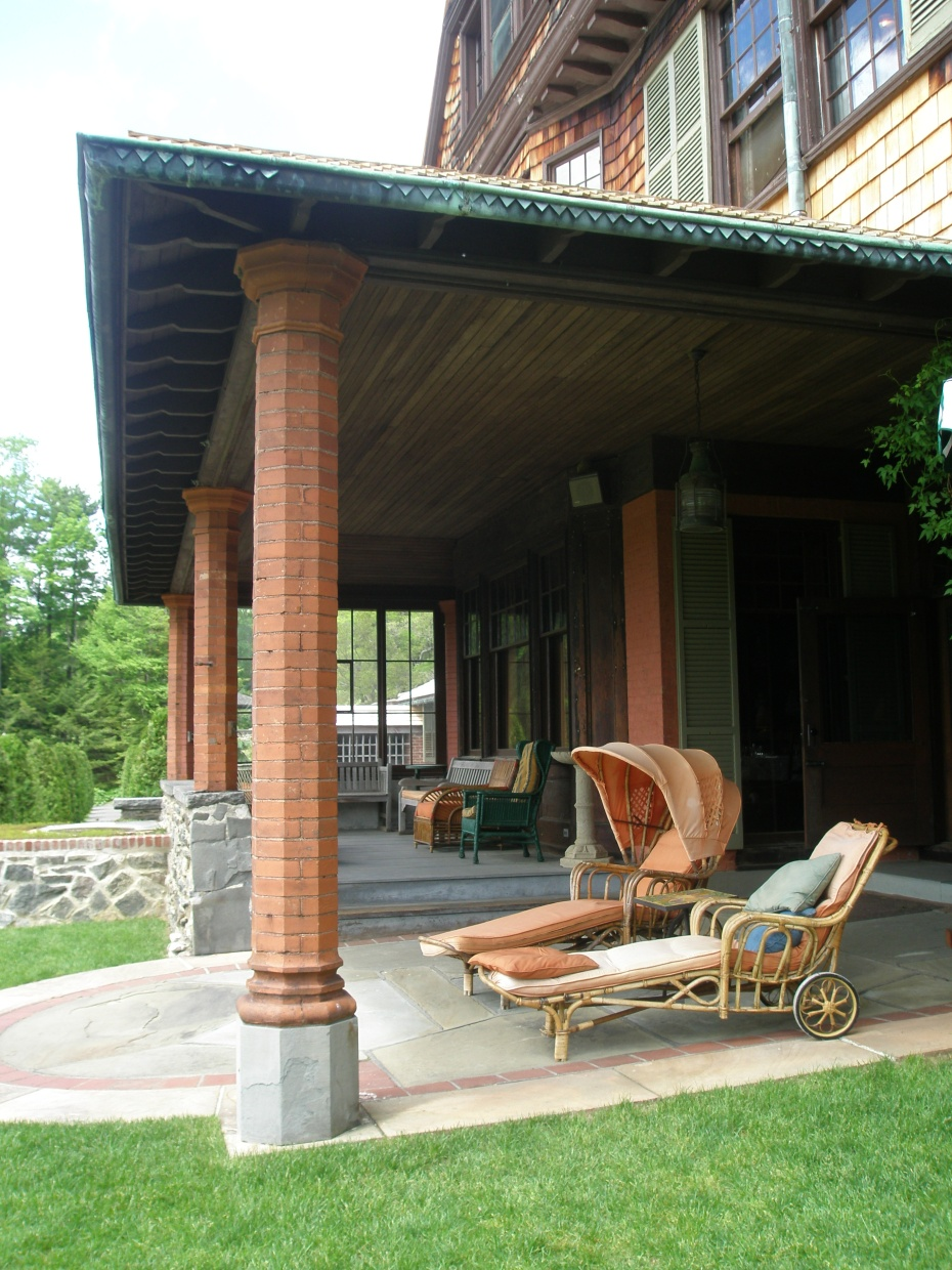 Porch overlooking the Top Lawn
