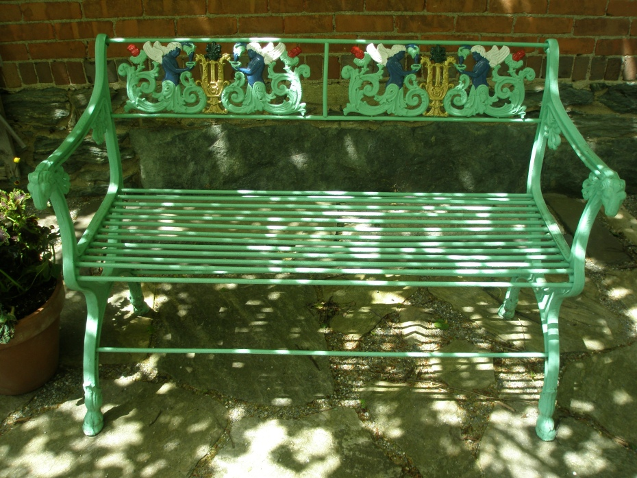 Another uncomfortable bench in the Afternoon Garden