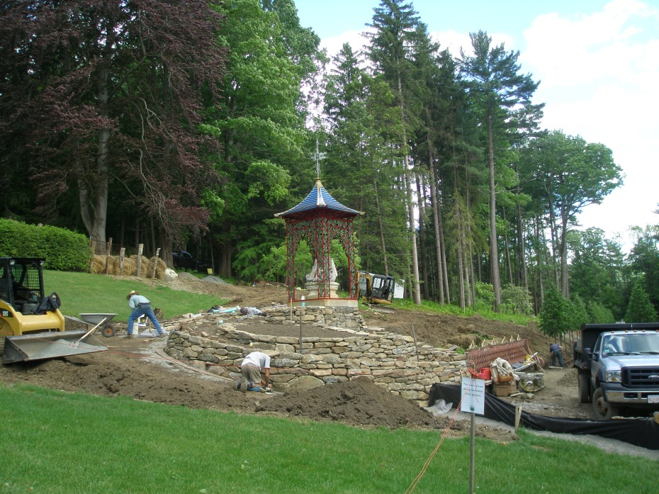 The Pagoda's garden is being rebuilt
