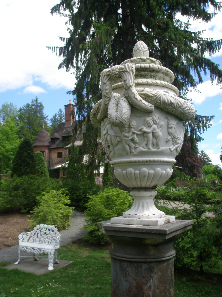 Urn in the Evergreen Garden