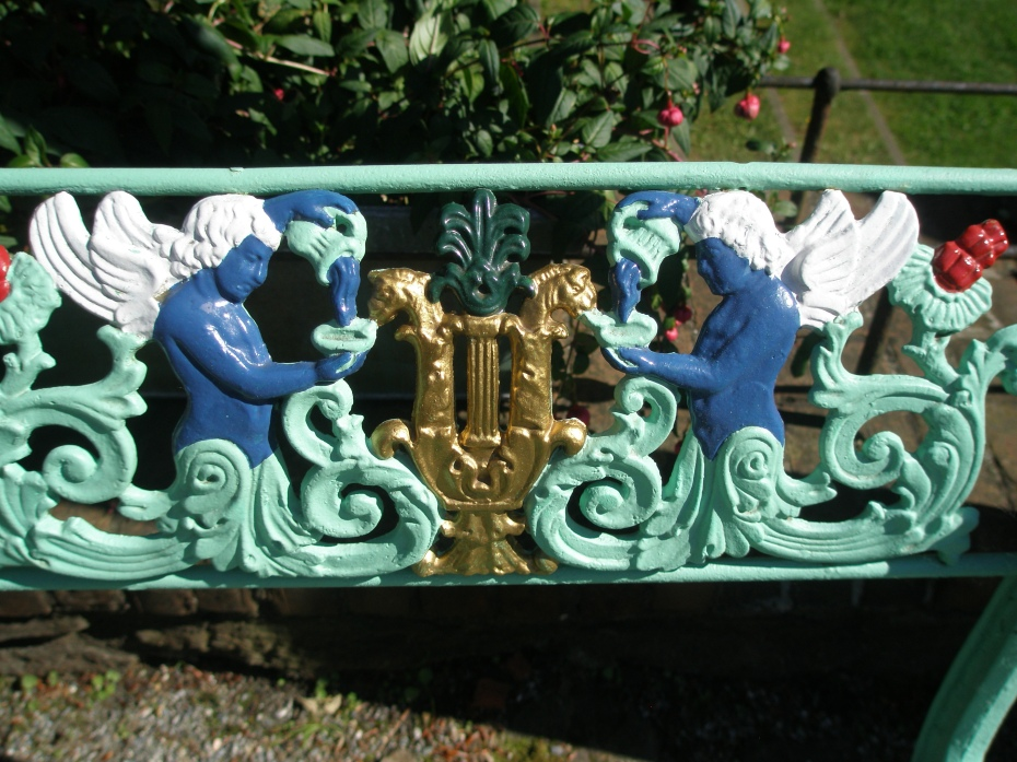 Detail of bench-back