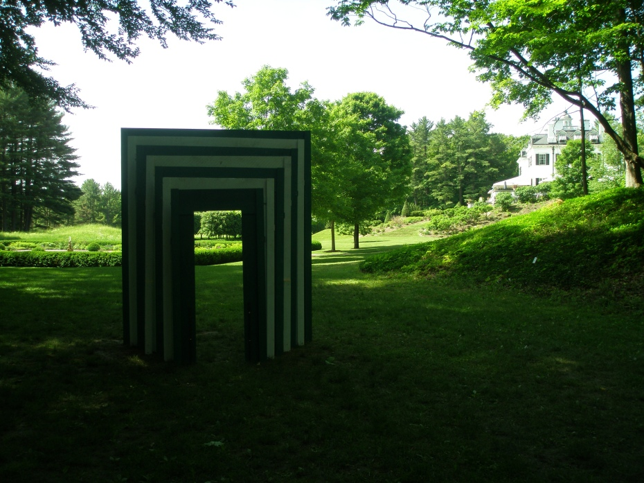 "View through ""Proscenium in Green"" toward the Main House."