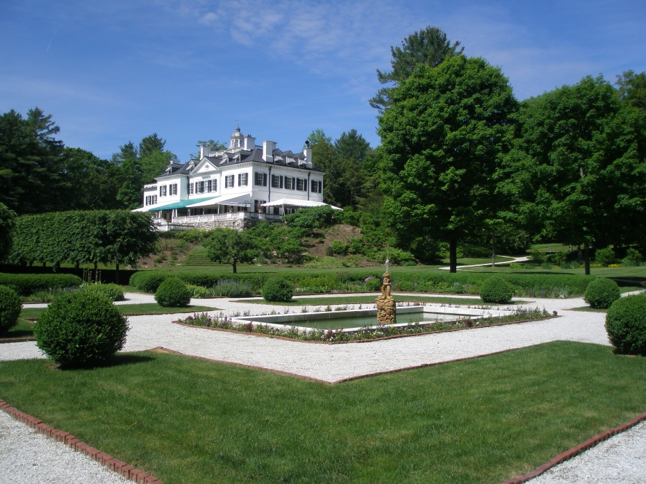 View of the Main House, from the Flower Garden