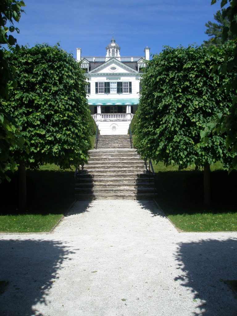 Stairs at mid-point on Lime Walk, which lead up to the Terrace of the Main House