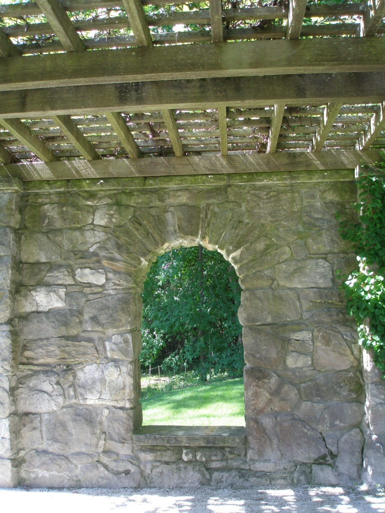 Restored Fieldstone Walls of the Pergola