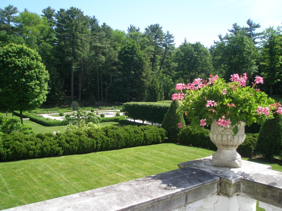 View from Terrace, down toward Flower Garden