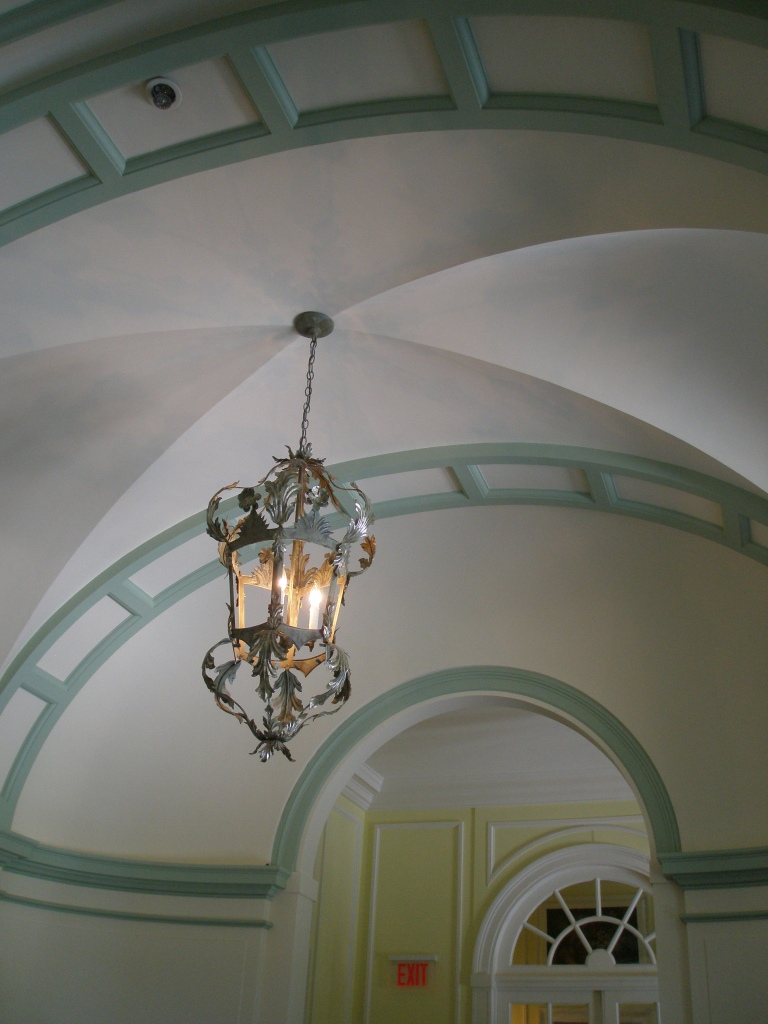 Detail of ceiling, in Main Floor Gallery
