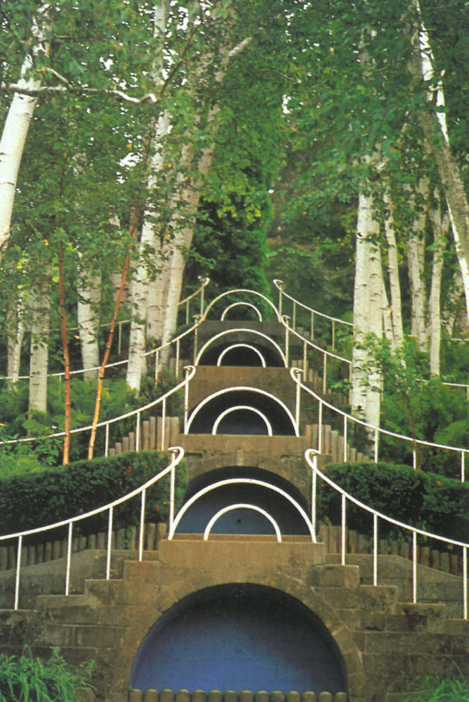 The Blue Steps, before the current reconstructions of the gardens