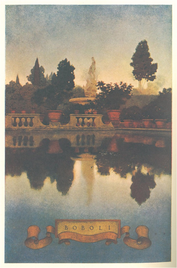 Maxfield Parrish's illustration of Florence's Boboli Gardens