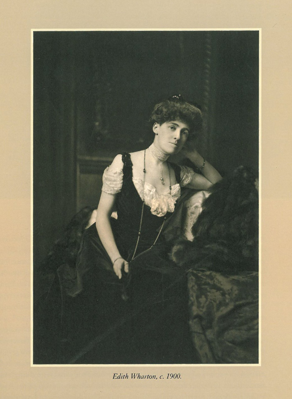 "Edith Wharton, as she was busy planning her Dream Home. Image courtesy of ""Edith Wharton at Home:Life at The Mount"" by Richard Guy Wilson."
