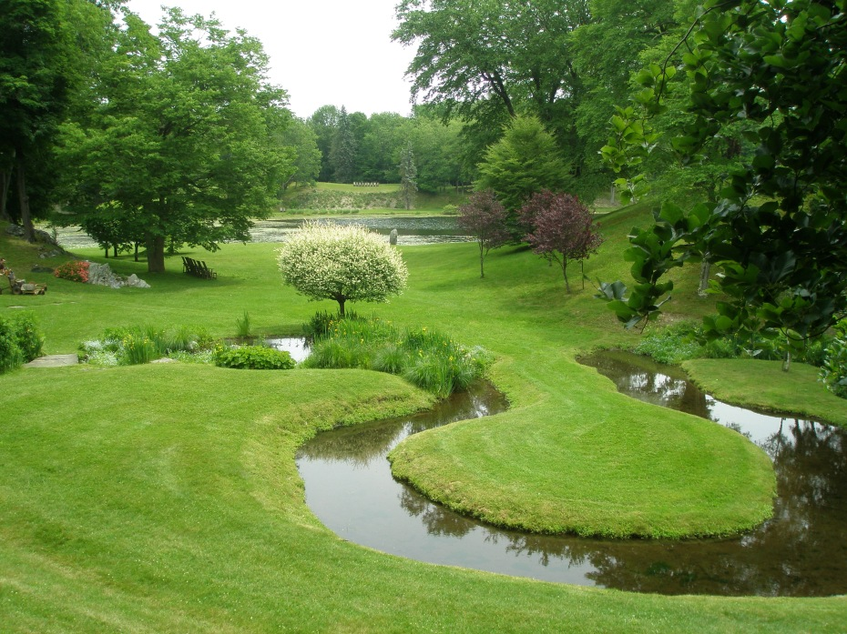 Innisfree Garden, in Millbrook, New York. June 6, 2013. The Yarimizu--or oxbow stream--in the Meadow.
