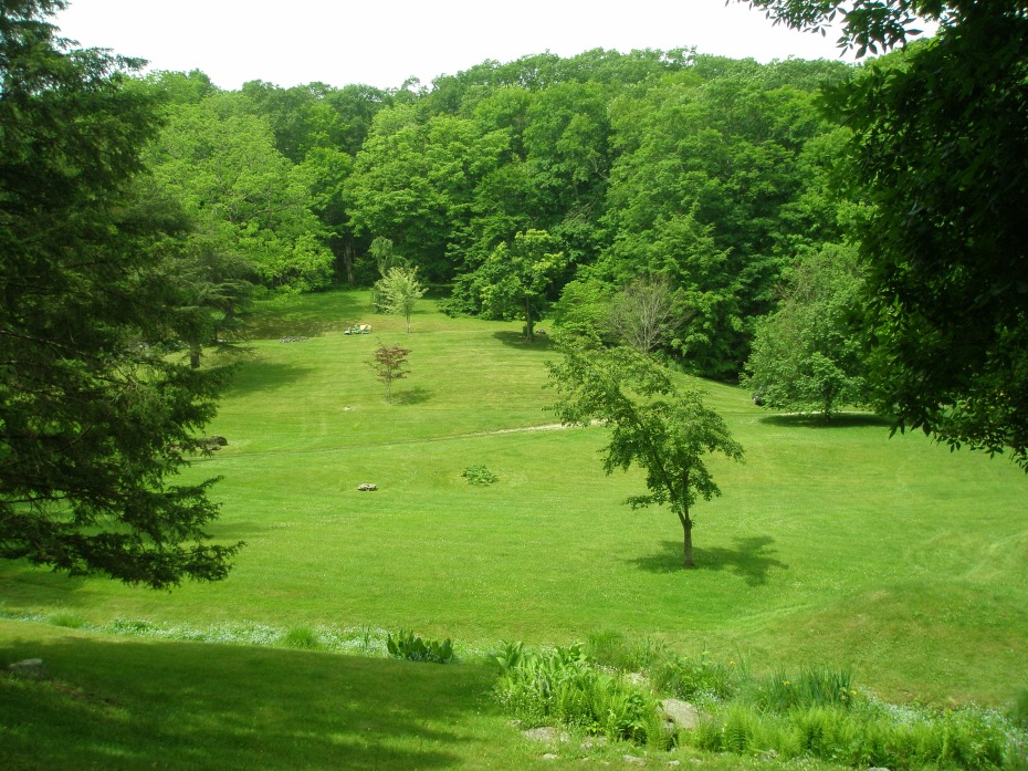 Looking down at the North Lawn from Tiptoe Rock