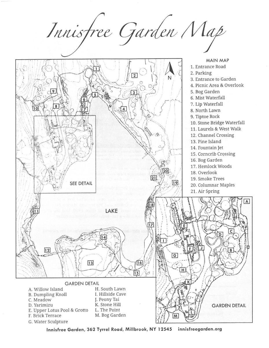Innisfree Garden Map