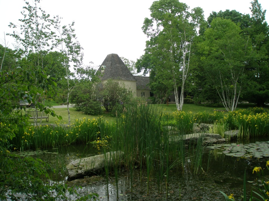 Pond Garden, with Potting Shed in the distance