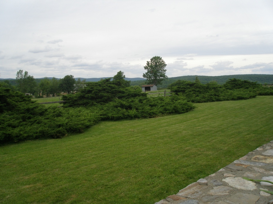 View from the West Terrace of the Main House