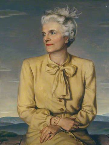 Clementine Churchill. Portrait done in 1946, by Douglas Chandor. Image courtesy of The National Trust.