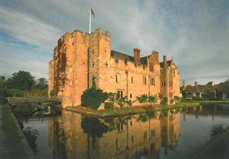 Hever Castle (built in 1462): the birthplace of the unfortunate Anne Boleyn. Image courtesy of Hever Castle.
