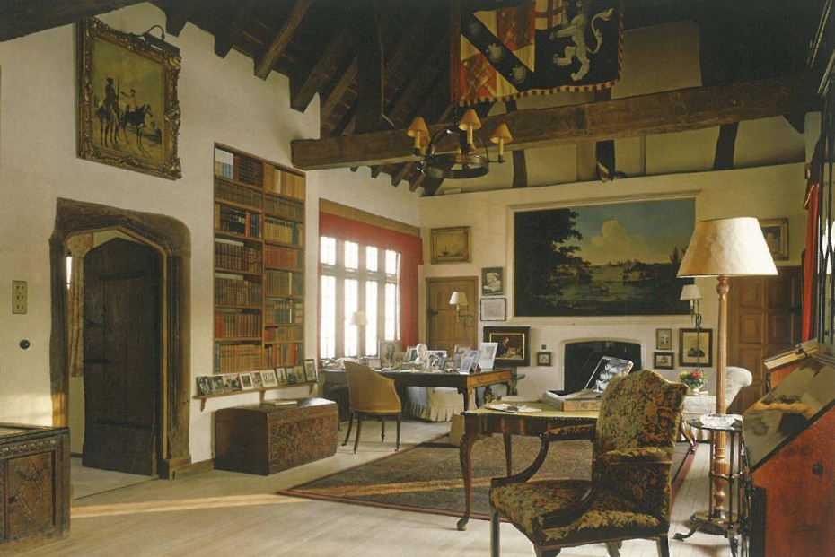 Churchill's first floor Study is the most important room at Chartwell, and is one of the few recognizable, surviving parts of the original house. At first, Churchill slept here in a four-poster bed, but during the 1930s, he used an adjacent room as his bedroom. Image courtesy of The National Trust.