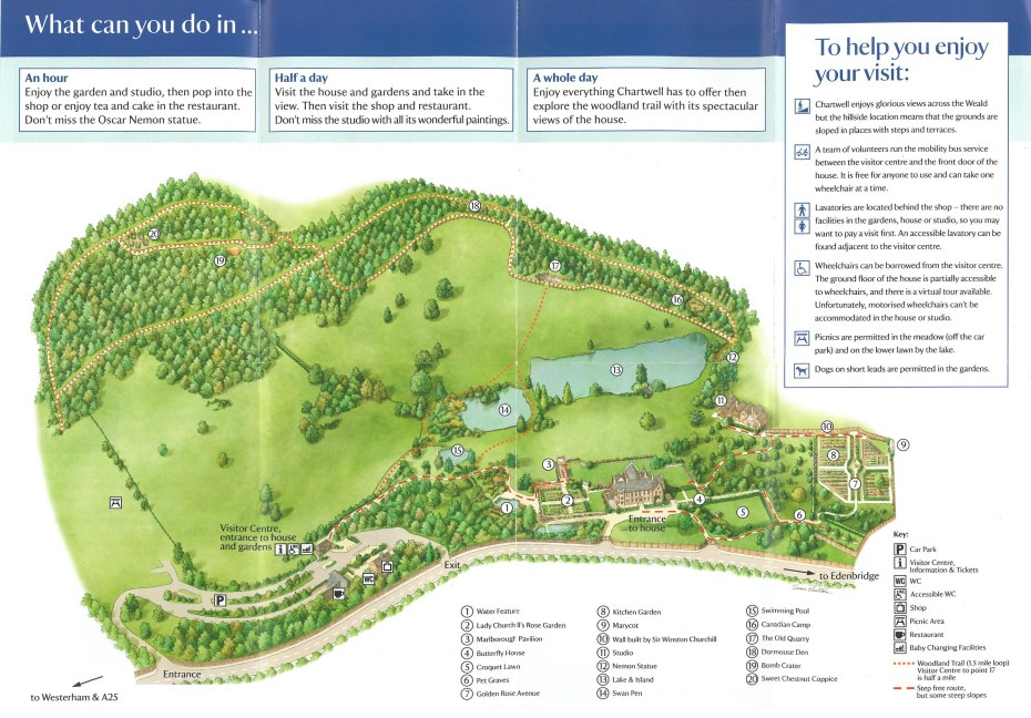 Map of the Grounds at Chartwell.