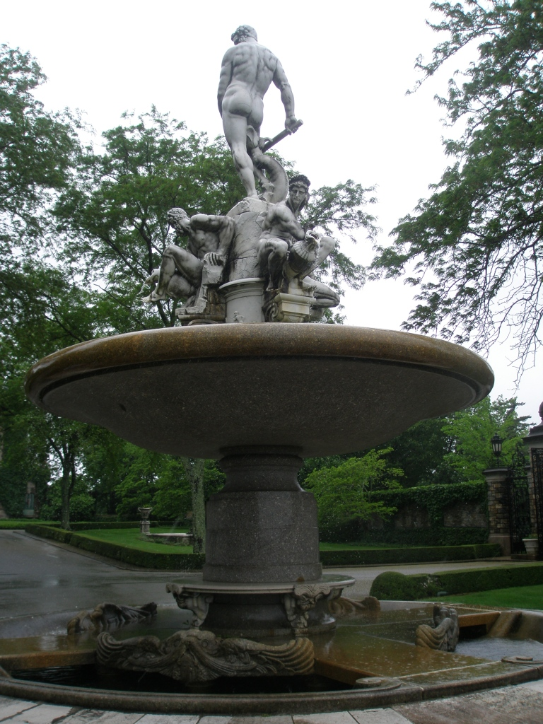 The Oceanus Fountain, seen from the top of the Grand Stairway
