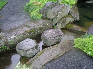 Stepping Stones in the Brook Garden