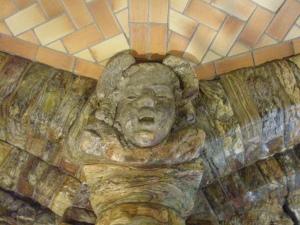 Carved Sandstone Mask