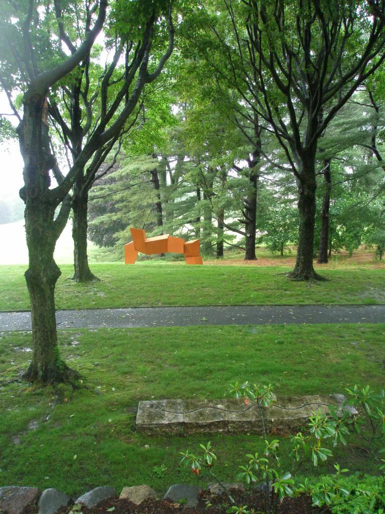 Further along the Maple Walk is James Rosati's LIPPINCOTT II (1965-69); painted, cor-ten steel.