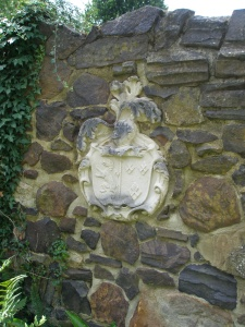 One man's abandoned heraldic shield is another man's garden-treasure