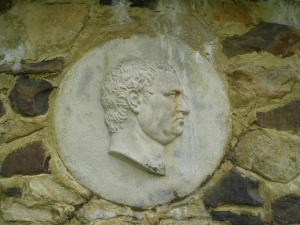 A grumpy emperor on the Italian Garden wall