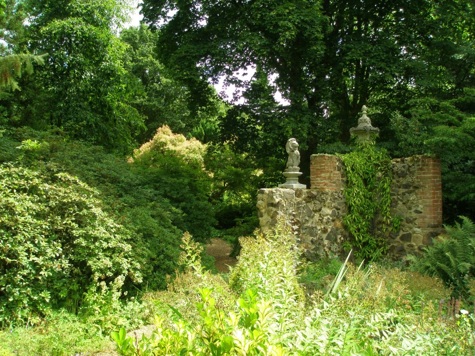 Woodlands behind the Italian Garden. The two acres on the eastern edge of the garden were purchased in 1962.