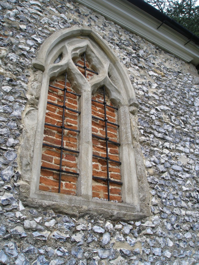 Wall detail of The Chapel/The Church of St. Botolph.