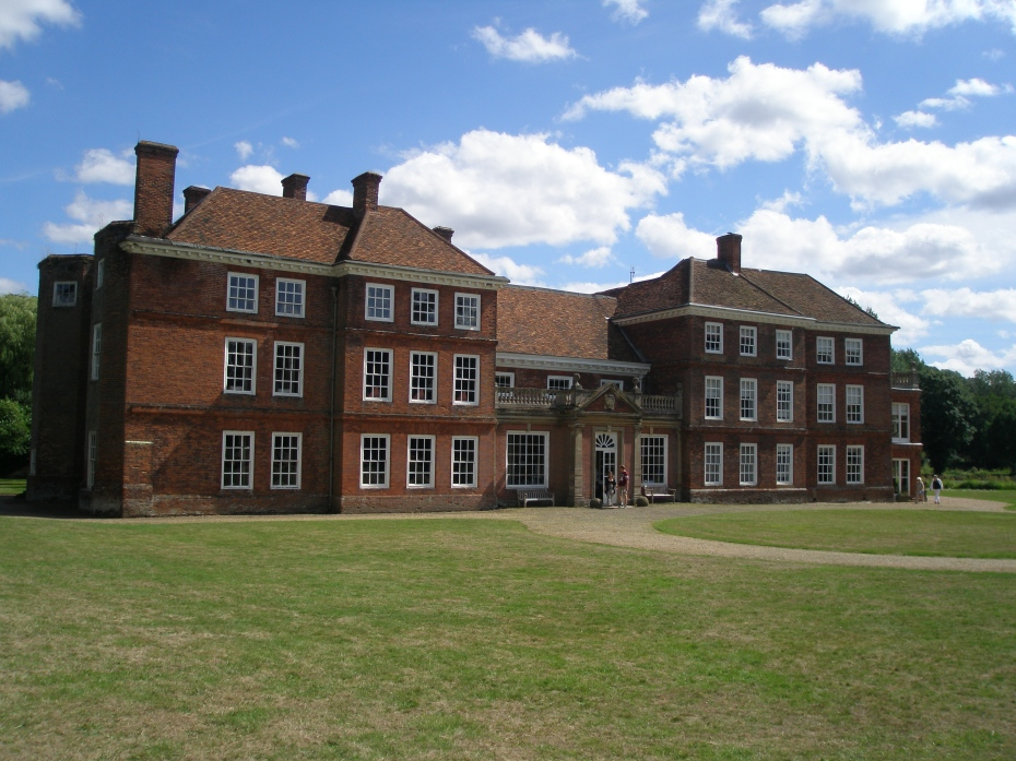 The West Front of Lullingstone Castle is opposite the Gate House. The facade, done in the Queen Anne style, was added in the mid 18th century. The Manor House was originally surrounded by a moat.