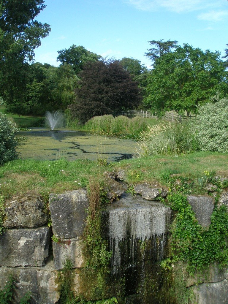 A High Cascade made of Bath Stone is at the end of the Top Lake